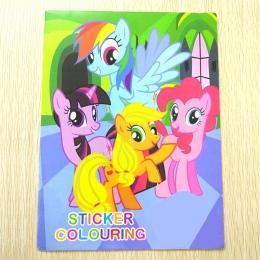 20x27 CM 16 strona Pony kolorowanki książka książka na naklejki dla dzieci książki dla dzieci dorosłych kolorowanki malarstwo/ry