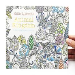 1 sztuk nowy 24 strony królestwa zwierząt angielski Edition kolorowanka dla dzieci dorosłych stres dla dorosłych zabij czas mala