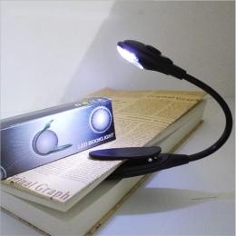 Doprowadziły książki światło Mini Clip-On elastyczny jasna lampa Led światła lampka do czytania do podróży sypialnia książki czy