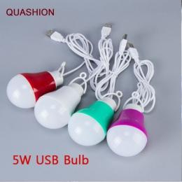 Kolorowe pcv 5 V 5 W USB żarówka przenośna lampka LED 5730 dla trekkingowy namiot kempingowy podróż praca z bankiem energii Note