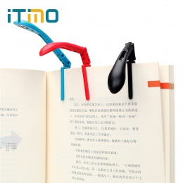 ITimo książki światło lampka do czytania Clip-on Book światła składane doprowadziły lampka nocna dla czytnik kindle regulowany e