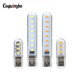 2 sztuk nowy Mini USB LED oświetlenie nocne lampa kempingowa do czytania żarówek laptopy komputer przenośny ładowarka przenośna