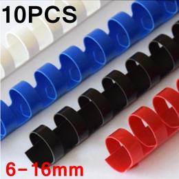 10 sztuk/partia pcv wiążące fartuchy pierścieniami 21 6-16mm oprawa 20-120 arkuszy A4 wiążące fartuchy urządzenie do wiązania wł