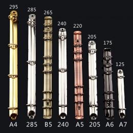 A4 B5 A5 A6 kolorowe metalowe spirali spoiwa klip luźne-leaf shape ze stali nierdzewnej segregator Folder pamiętnik klipy pierśc