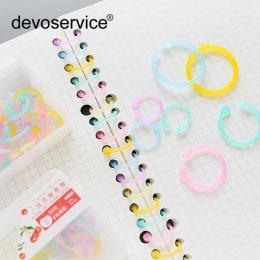 Wielofunkcyjny kolorowy przezroczysty polietylen Binder klip DIY kieszonkowy spoiwa luźne liści Folder plików pamiętnik klipy wi