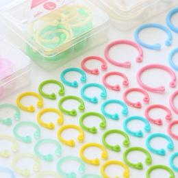 Kolorowe plastikowe koło pierścień wielofunkcyjny kreatywny luźne liści spoiwa pierścień dla DIY album Binder Hoops biurowe wiąż