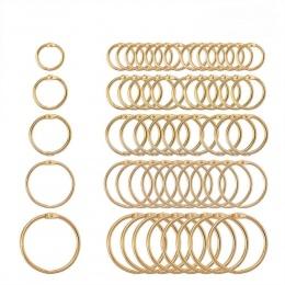 5 Pc 15-38mm złote metalowe luźne liść książka spoiwa zawiasach pierścienie brelok Album księga gości Craft czarny otwórz pierśc