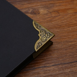 5 Pc Retro wysokiej jakości metalowe luźne pierścionek w kształcie liści luźne liści pierścień wiążący rogu klip dla Notebook se