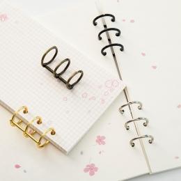 Metalowe luźne liść książka spoiwa zawiasach pierścień wiążące pierścienie nikiel kalendarz biurkowy koło 3 pierścienie dla kart