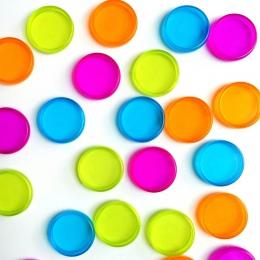 10 sztuk kolorowe okrągłe pierścienie z tworzywa sztucznego grzyb otwór luźne pierścionek w kształcie liści książki wiążące klam