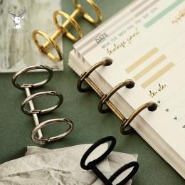 2 sztuk/zestaw metalowe luźne liść książka spoiwa zawiasach pierścienie Album księga gości klip Craft Album fotograficzny metalo