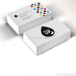 Wolne drukowanie 200 pcs/500 pcs/1000 sztuk/partia papieru wizytówki 300gsm karty papierowe z logo na zlecenie druku darmowa wys