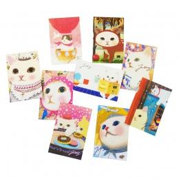 10 sztuk/partia nowy moda śliczne koty pocztówki grupa Cartoon boże narodzenie karty kartka z życzeniami urodzinowymi nowy rok p