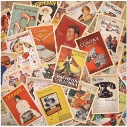 32 sztuk/partia klasyczna słynna plakaty w stylu Vintage styl pamięci pocztówka zestaw kartki z życzeniami prezent nowy rok pocz