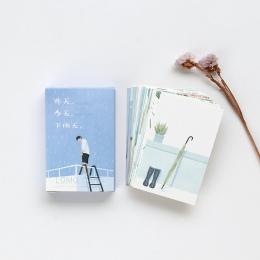 28 arkuszy/zestaw wczoraj dziś deszczowy dzień Mini Lomo pocztówka/kartkę z życzeniami/urodziny list koperta karty prezent karty