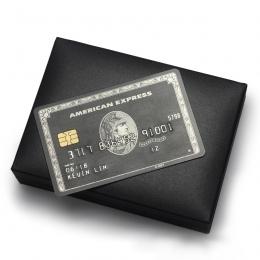 Metalowa karta/amerykański ExpressCard/chip karty magnetyczne karty/centurion, republika południowej afryki czarna kartka/darmow