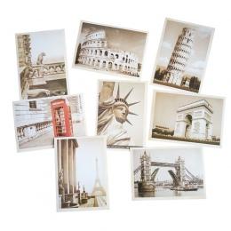 32 sztuk/partia klasyczna słynna europa budynek w stylu Vintage pamięci pocztówka zestaw kartki z życzeniami karty podarunkowe p