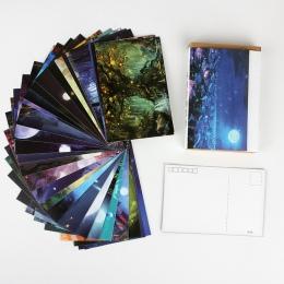 30 arkuszy/zestaw ciemności przed świtem pocztówka/kartkę z życzeniami wiadomości/karta upominkowa z kopertą z okazji urodzin ka