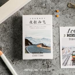 28 arkuszy/zestaw nowość podróż nocy Lomo karty/kartkę z życzeniami pocztówka/urodziny list koperta karty prezent