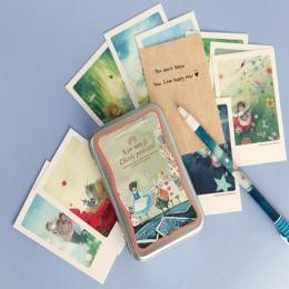 40 sztuk/zestaw alicja cyny zestaw kart okolicznościowych Mini pocztówki retro europejski styl klasyczny karty i zaproszenia wiz