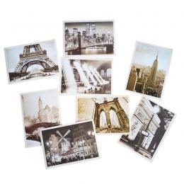 32 sztuk/partia klasyczna słynna europa budynek w stylu Vintage pamięci pocztówka zestaw prezent kartki z życzeniami pocztówki ś