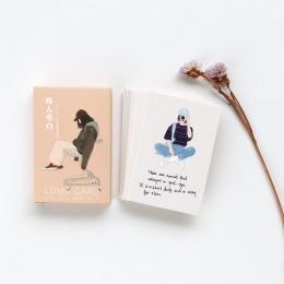 28 arkuszy/zestaw kreatywny przechodnia narracji Mini Lomo pocztówka/kartkę z życzeniami/kartka urodzinowa koperta karta podarun
