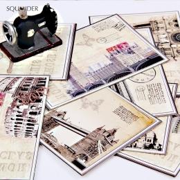 SQUMIDER 9 sztuk 4 wzory pocztówka Cartoon europejski klasyczny karty kartkę z życzeniami na boże narodzenie dzień nauczyciela l
