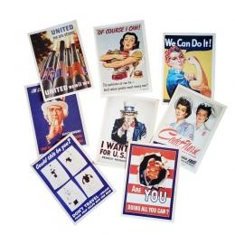 32 sztuk/paczka w stylu Vintage WW2 motyw wojskowy pocztówki prezent kartki z życzeniami klasyczne plakaty prezent na Boże Narod