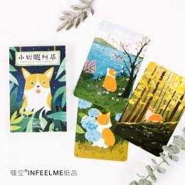 30 arkuszy/dużo Cute Cartoon Corgi pocztówka/kartka z życzeniami/karta życzeń/święta bożego narodzenia i nowy rok prezenty
