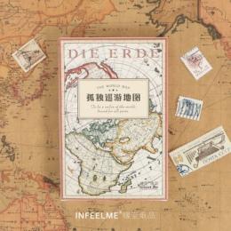 30 arkuszy/zestaw mapa świata pocztówka/kartka z życzeniami/karta wiadomości/święta bożego narodzenia i nowy rok prezenty