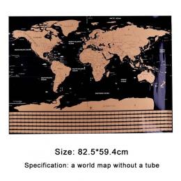 82.5X59.4 cm czarny świata podróży Scratch Off mapa spersonalizowane usunąć mapie świata bez rury kreatywny dekoracji naklejki ś