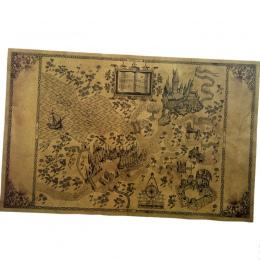 Mapa czarodziejskiego świata harry'ego pottera wokół dużego papieru plakat film 51*32.5 cm klasyczny plakat w stylu Vintage Retr