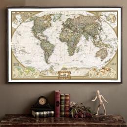 Duża Vintage mapa świata materiały biurowe szczegółowe antyczne plakat na ścianę wykres Retro papier matowy papier pakowy 28*18