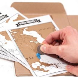 Popularne Travelogue notebooki + Scratch mapa podróży dziennika dziennik turystyczny z 8 Mini świecie i aktualną pogodę lub prze