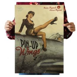 II wojny światowej piękna dziewczyna papier pakowy vintage klasyczny film plakat mapa domu garaż ścienne dekoracji sztuki Retro