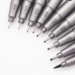 Złożony z 1 części pigmentowy Pigma Micron Marker długopis 0.05 0.1 0.2 0.3 0.4 0.5 0.6 0.8 różnych końcówki czarny Fineliner sz
