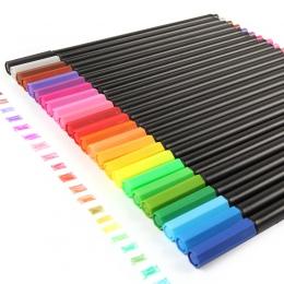 0.4 Mm 24 kolory długopisy Fineliner Superfine Marker długopis na bazie wody różne atrament rysunek sztuka dla dzieci Graffiti c