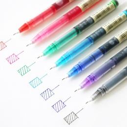 JIANWU 7 sztuk/zestaw kolorowe proste płynny żel pióro artystyczny czcionki kreatywny nijaki pióro biznes szkolne materiały biur