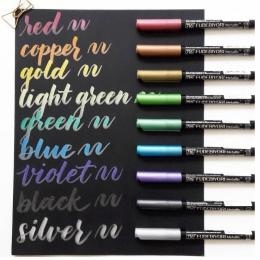 ZIG Kuretake FUDEBIYORI miękkie szczotka metalowa długopisy akwarela pisaki malarstwo długopisy japoński 57 kolorów