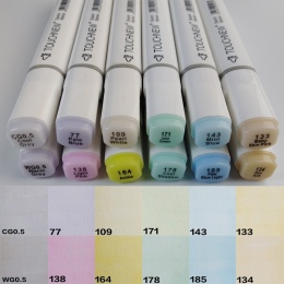 TouchNew 12 kolory pastelowe zestaw kolorów do portret ilustracja do rysowania artystycznego markery podwójne głowy szkic na baz