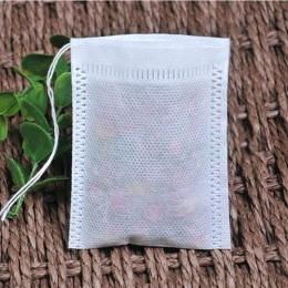 Torebki na herbatę 100 sztuk/partia puste pachnące saszetka z troczkiem 5*7 CM Seal filtr gotować, zioło, przyprawa, luźne toreb