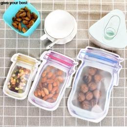 10 sztuk Mason Jar wzór żywności Saver do przechowywania zestaw toreb organizer do kuchni dla dzieci przekąski świeże torby torb