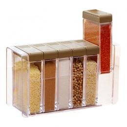 Kuchnia przyprawy butelki słoiki pudełka przyprawy z tworzywa sztucznego pokrywa może cukru warstwy do przechowywania organizato
