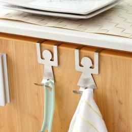 2 sztuk ludzkiej postaci przechowywania stojak hak kuchnia ze stali nierdzewnej stalowy wieszak na ubrania narzędzie słodkie pro