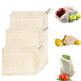 3 rozmiar 1 PC wielokrotnego użytku bawełna warzyw strona główna kuchnia owoce i warzywa do przechowywania worki siatkowe ze szn
