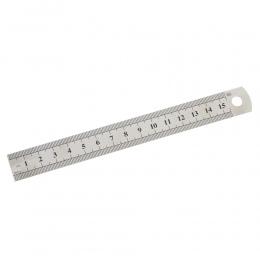 1 Pc 15 cm 6 Cal metalowe ze stali nierdzewnej linijka prosta precyzyjne dwustronne nauka materiały biurowe opracowanie materiał