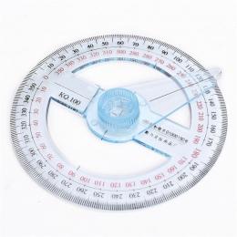 Najnowszy przenośny o średnicy 10 cm tworzyw sztucznych 360 stopni wskaźnik kątomierz linijka kąt Finder Swing ramię dla szkolne