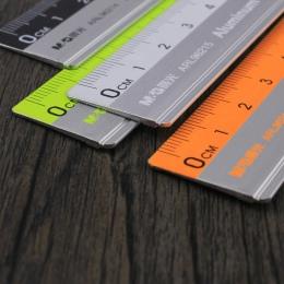 Z władcy skali mapowanie pomiaru materiały biurowe 15 cm/20 cm/30 cm linijka ze stali nierdzewnej do cięcia stali linijka