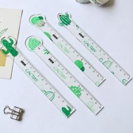1 sztuk Lytwtw's Kawaii proste przezroczyste marchew kaktus plastikowa linijka pomiar linijka prosta narzędzie Student prezent b