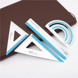 Nowy 4 sztuk/zestaw UV linijka ze stopu aluminium rysunek pomiaru geometria trójkąt linijka prostownica kątomierz wiele władców